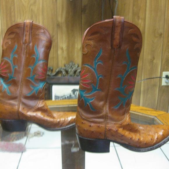 b1b350270e6 Lucchese custom made ostrich cowboy boots